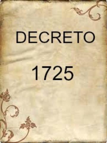 DECRETO 1725 DE 1994