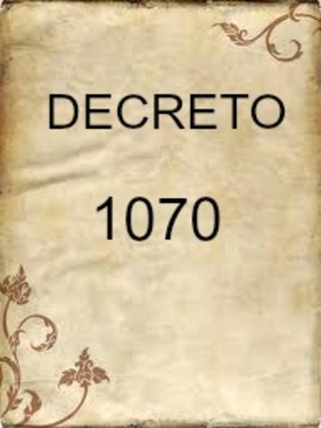 DECRETO 1070 DE 1995