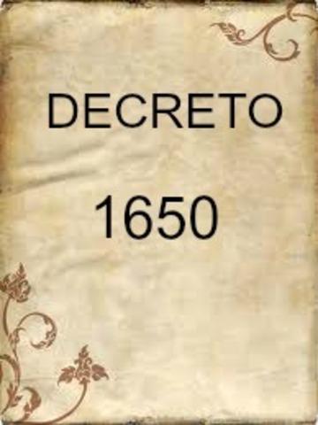 DECRETO 1650 DE 1994