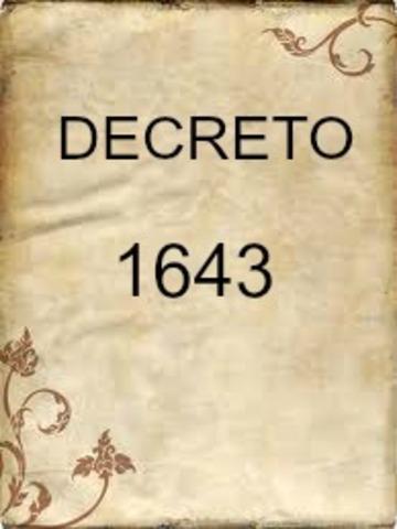 DECRETO 1643 DE 1994