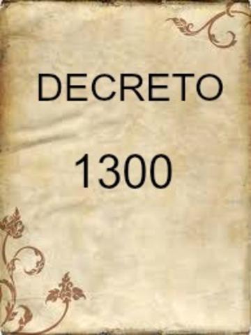 DECRETO 1300 DE 1994