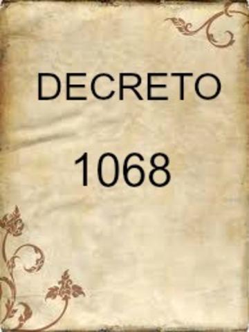 DECRETO 1068 DE 1995