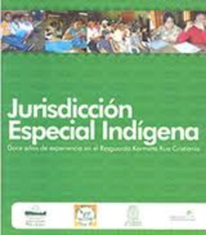 PRIMER ANTECEDENTE DE LA JURISDICCION ESPECIAL INDIGENA