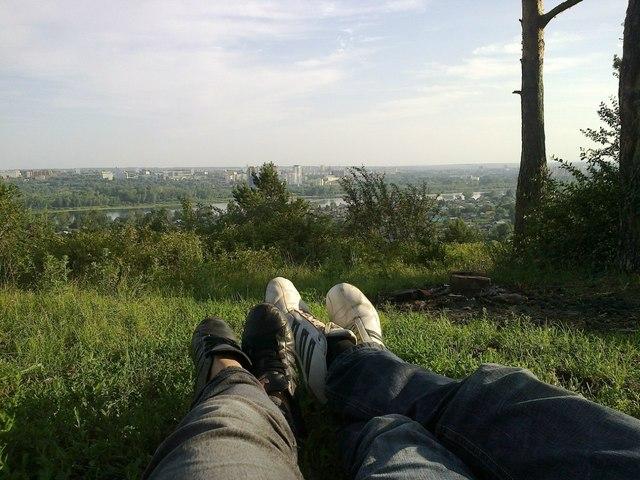 Признание в любви, да ещё и на горе))