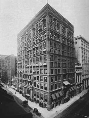 Louis Sullivan builds the first skyscraper in Chicago