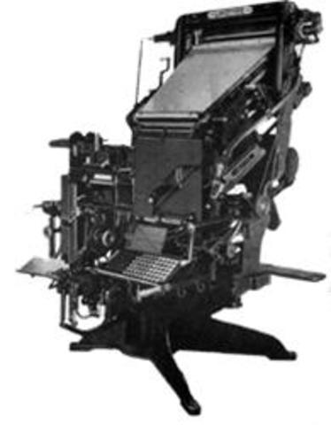 Linotype invented
