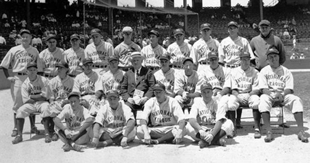 American all-star baseball team tours the world