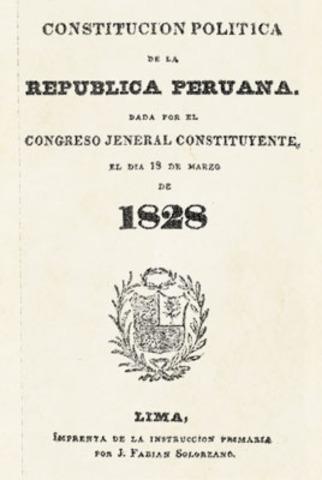 Promulgación de la constitución de 1828