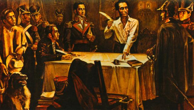 Bolívar le declaró la guerra a Perú