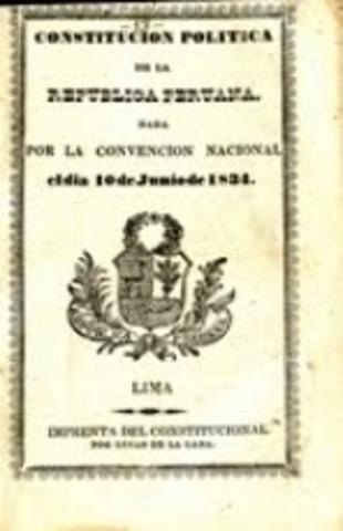 La Convención Nacional promulgó La Constitución Liberal de 1834
