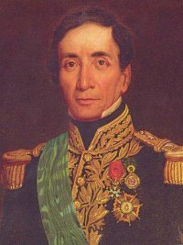 Firma del pacto entre Santa Cruz y Orbegoso