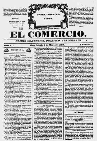 Publicación del Diario el Comercio