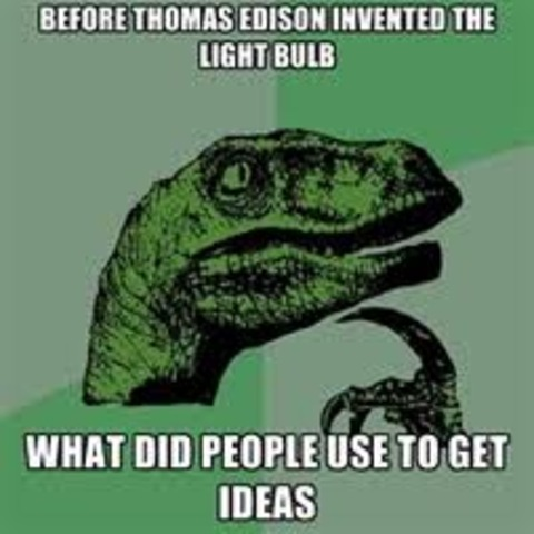 Edison invents the electric light