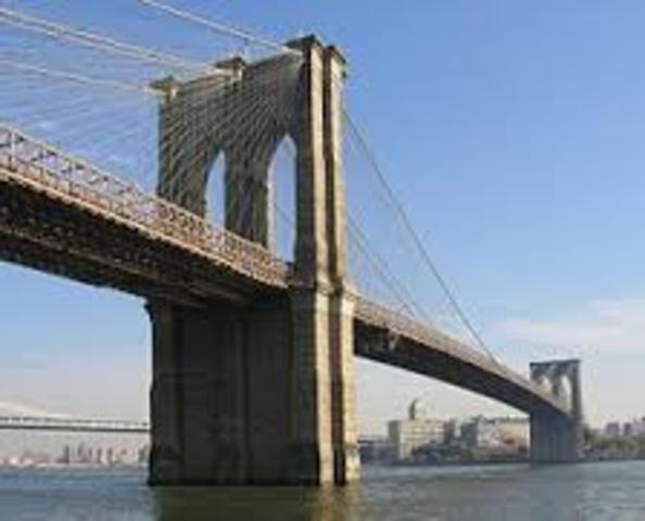 Brooklyn Bridge completed