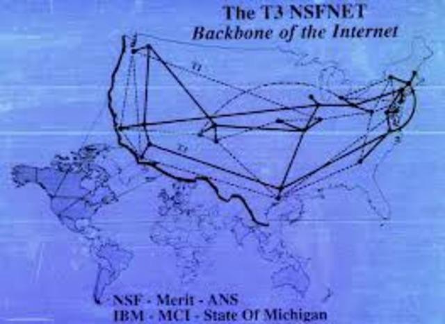 NSFNET backbone upgraded