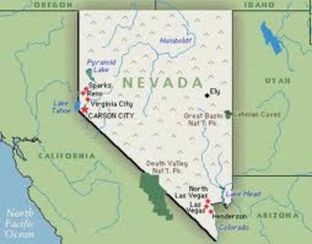 Nevada admitted to the Union