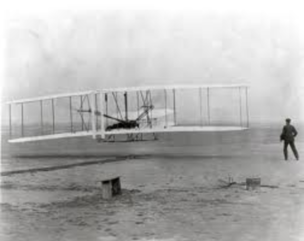 the Wright brothers create first aeroplane