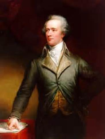 Alexander Hamilton proposes a National Bank