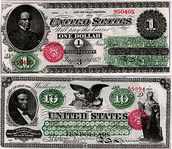 The Goverment issues greenbacks
