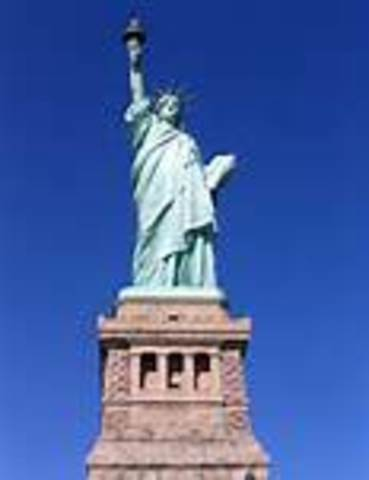 Statue of Liberty Erected