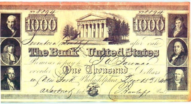 State banks could no longer issue notes