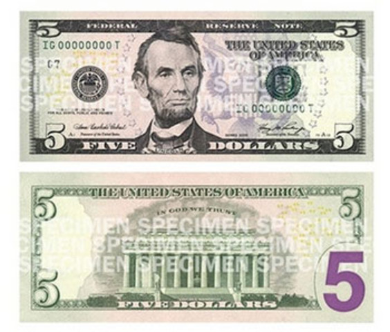 Redesign of $5 and $10