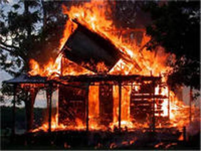 Большой пожар в Казани