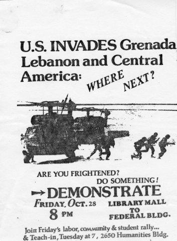 The US invades Grenada