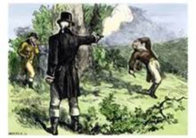 Alexander Hamilton killed in duel with Aaron Burr