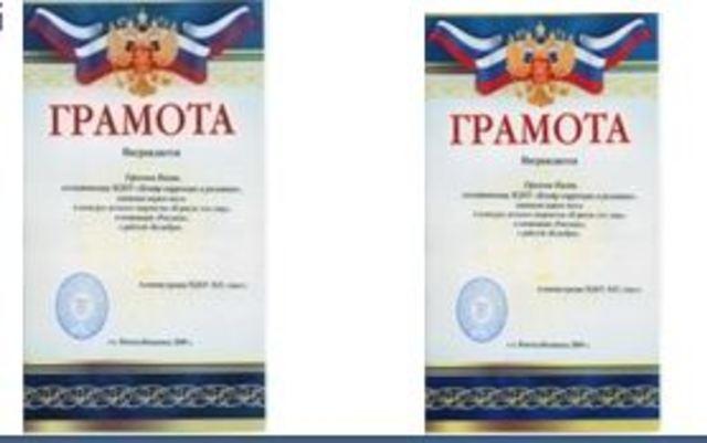 Награды воспитанников (2008-2009)