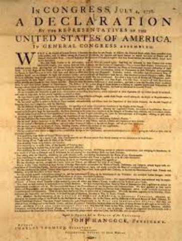 Declaration of Independence is signed