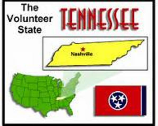 Tennessee becomes a state