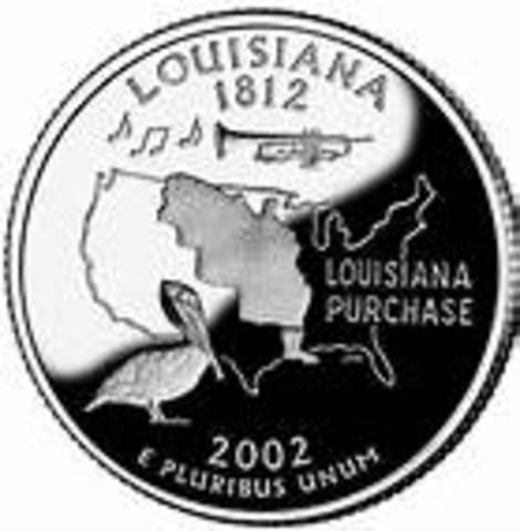 Louisiana becomes a state