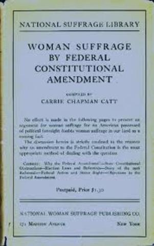 Federal Women Suffrage Amendment