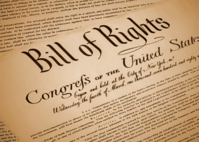 The Bill of Rightscome into effect
