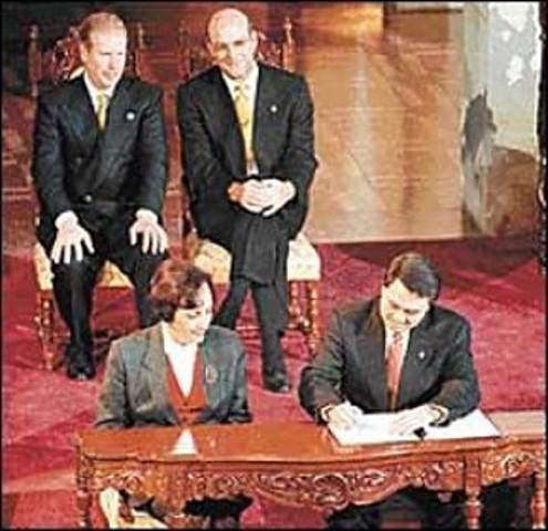 Firma de la paz en Guatemala