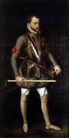 Felipe II sube al trono.