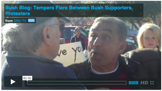 WATCH: Tempers flare between Bush Supporters and Protesters