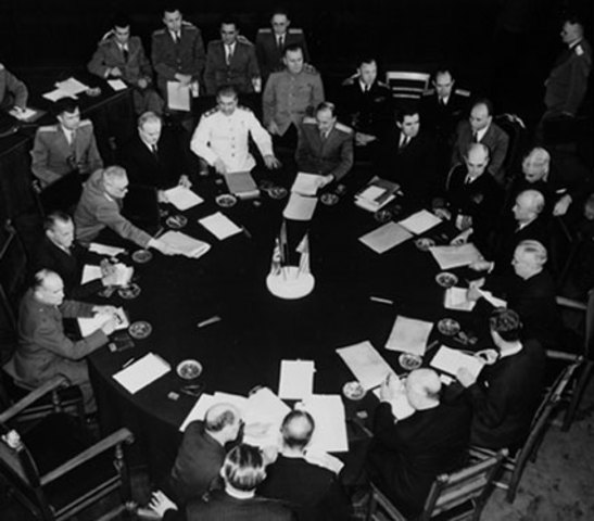 The reconstruction and division of Europe is agreed upon during the Potsdam conference.