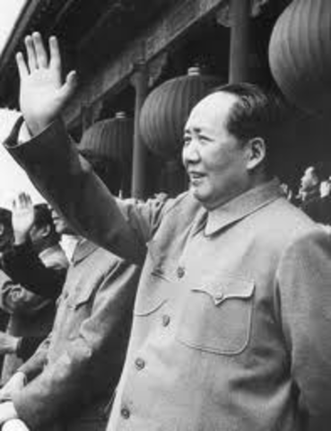 The Nationalists in China led by Chiang Kai-Shek moves to the island of Formosa, present day Taiwan.