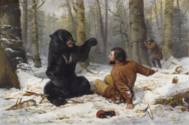 The Life of a Hunter: A Tight Fix, 1856
