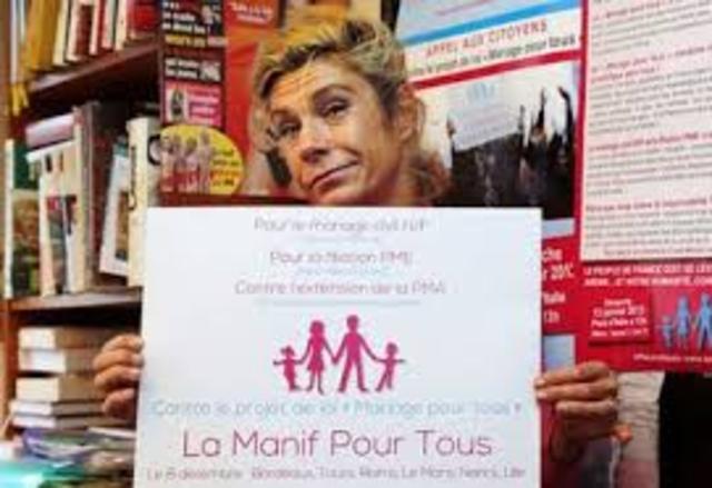 Première manifestation du collectif La Manif pour Tous