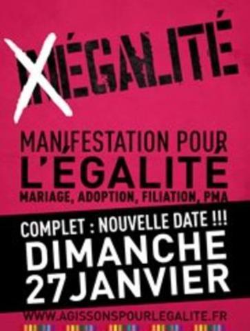 Seconde manifestation du collectif pro-mariage gay Agissons pour l'Égalité