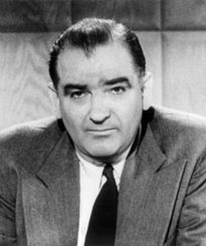A communist witch hunt in the US begins, led by Joe McCarthy.
