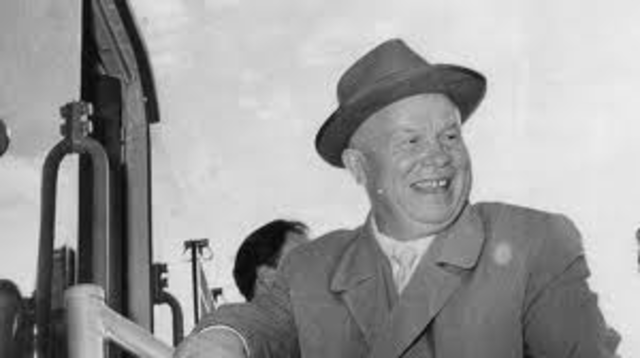 Soviet Communist Party chooses a new leader in Nikita Krushchev.