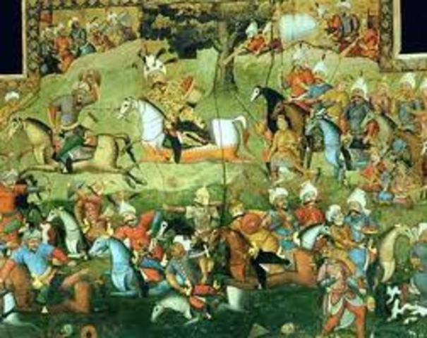 Ismail I Battles the Uzbegs