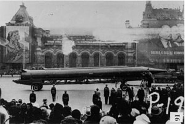 Soviets covertly install military bases and nuclear weapons on Cuba, the standoff is known as the Cuban Missile Crisis.