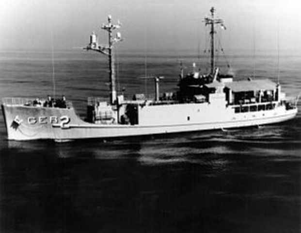 North Korea boards and captures the USS Pueblo, later known as the Pueblo Incident.