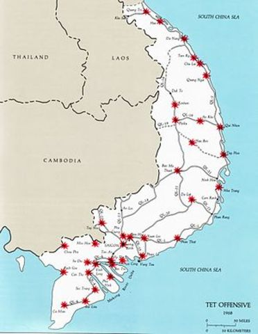As the war in Vietnam intensifies, one of the major events take place known as the Tet Offensive.