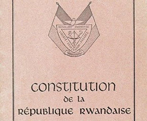 New constitution and President Habyarimana